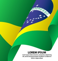 Brazil Waving Flag Background vector