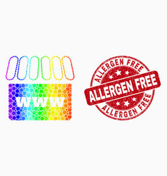 bright pixelated webshop icon and distress vector image