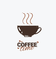 cafe poster coffee design element vector image