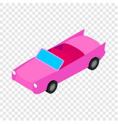 Car convertible isometric icon vector