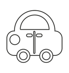 Car vehicle toy kids icon vector