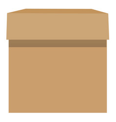 cardboard box mockup realistic style vector image