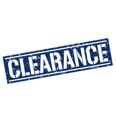 Clearance square grunge stamp vector
