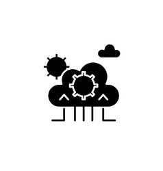 cloud technology black icon sign on vector image