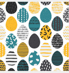 cute seamless pattern with ukrainian easter eggs vector image