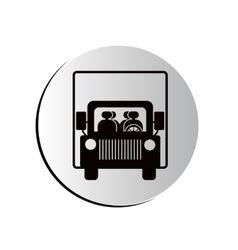 degraded circular shape road sign of bus crossing vector image
