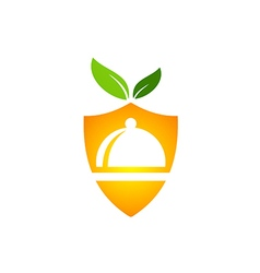 eco food protection vegetarian logo vector image