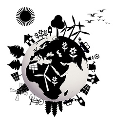 Ecological concept with Earth globe vector image