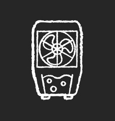 Evaporative cooling device chalk white icon vector