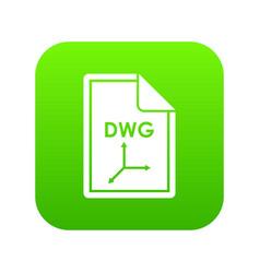 File dwg icon digital green vector
