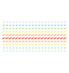 Firewood shape halftone spectral effect vector