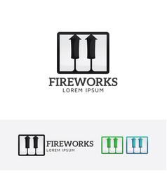 fireworks logo design vector image