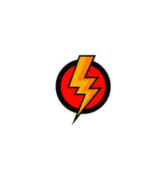 flash bolt icon vector image