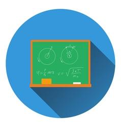 Flat design icon of Classroom blackboard in ui vector image
