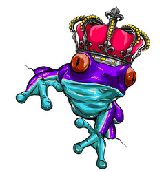 frog and crown represent frog prince vector image