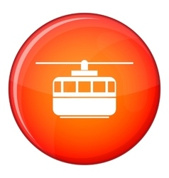 Funicular icon flat style vector