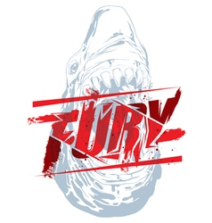 Fury sign with shark head vector image