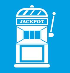 gamble machine icon white vector image