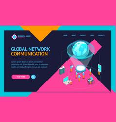 global communication internet network concept vector image