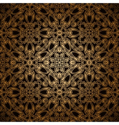 Gold lace pattern vector image