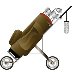 golf bag vector image