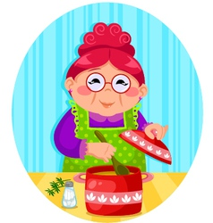 Grandmas cooking vector