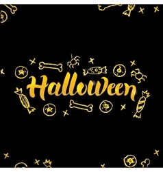 Halloween Gold Lettering over Black vector image