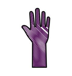 Hand up symbol vector