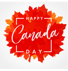 Happy canada day maple leaf banner vector