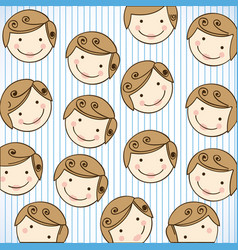 Happy man with cheeks background icon vector