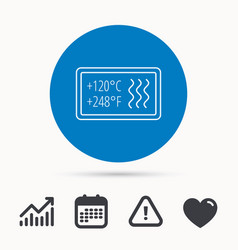 Heat resistant icon microwave dishwasher info vector