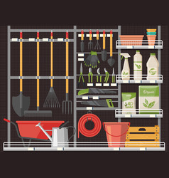 Horticulture accessory and gardener equipment vector