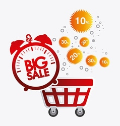 Hot price shopping design vector image