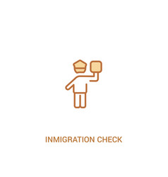 Inmigration check point concept 2 colored icon vector