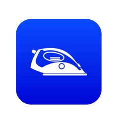 Iron icon digital blue vector