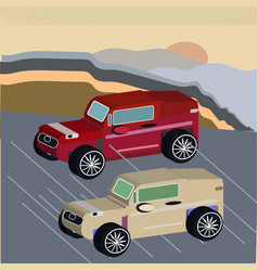 isometric sport car vector image