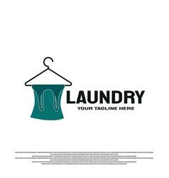 Laundry logo icon element vector