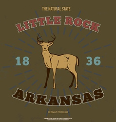 Little rock arkansas t-shirt graphic vector