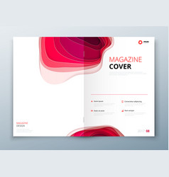 Magazine design paper carve abstract cover for vector