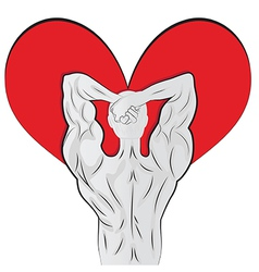 Man body shaped as heart for valentine day vector