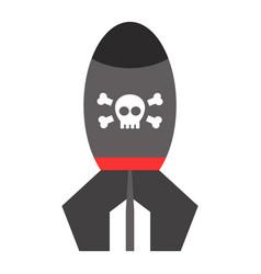 missile rocket icon cartoon vector image