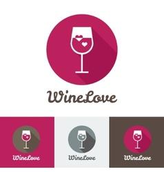 modern flat wine shop restaurant or bar logo vector image