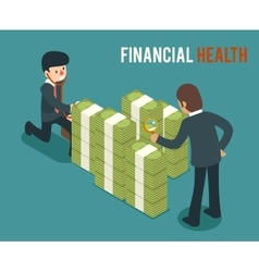 Money health isometric 3d vector image