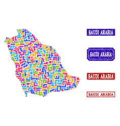 Map of Saudi Arabia Coloring Vector Images (over 150)