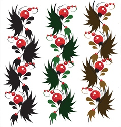 multicolored delicate ornament berry vector image