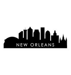 new orleans skyline silhouette black new orleans vector image