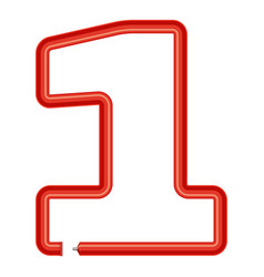 number one plastic tube icon cartoon style vector image