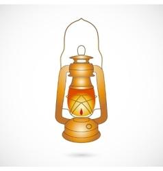 Oil lantern over white vector