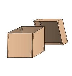 Open paper box vector