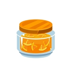 Orange Jam In Transparent Jar vector